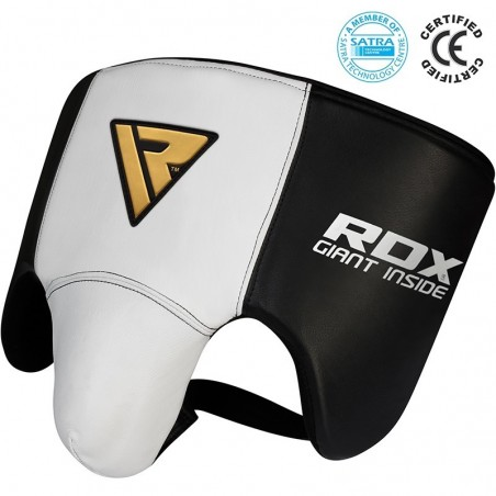RDX Suspensor Bokserski L1 Gel Biały/Czarny 2