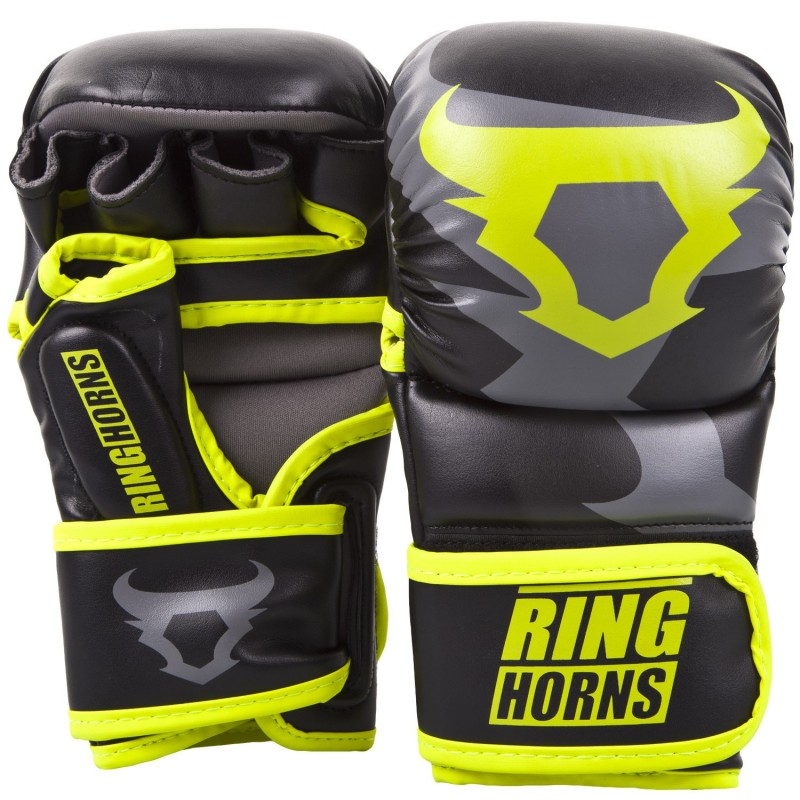 Ringhorns Rękawice MMA Charger Czarne/Zielone