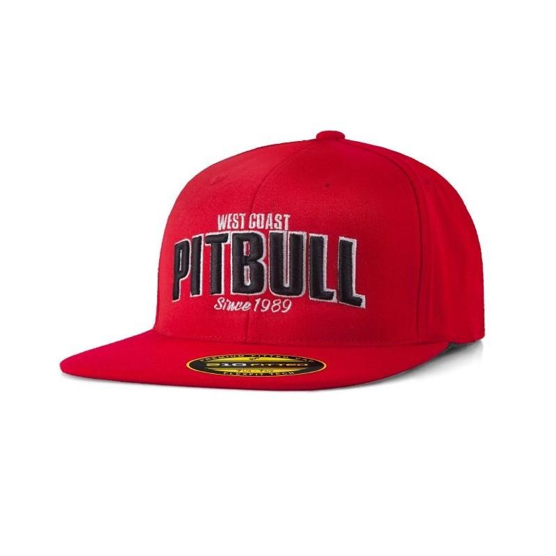Pitbull Full Cap Flat Since 1989 Czerwony