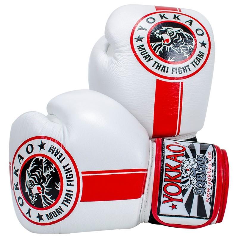 Yokkao Rękawice bokserskie Official Fight Team Białe/Czerwone