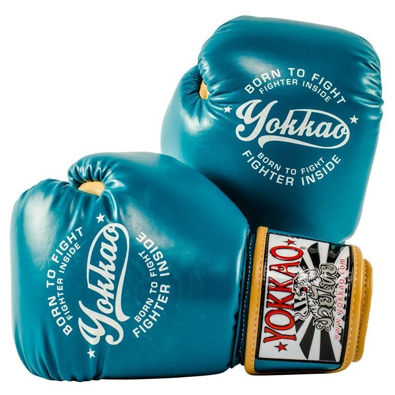 Yokkao Rękawice bokserskie Vintage Niebieskie