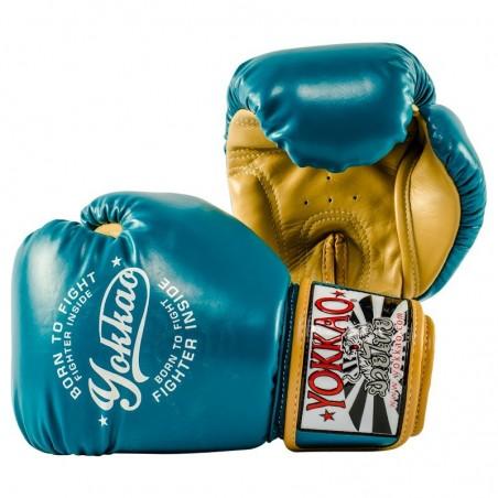 Yokkao Rękawice bokserskie Vintage Niebieskie 2