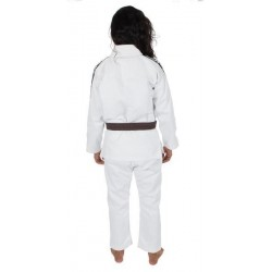 KiNGZ Kimono/Gi BJJ Damskie Basic 2.0 Białe + Biały Pas 1