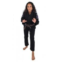 KiNGZ Kimono/Gi BJJ Damskie Basic 2.0 Czarne + Biały Pas 5
