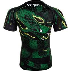 Venum Rashguard Green Viper Krótki Rękaw Czarny/Zielony 1