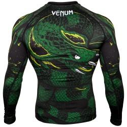 Venum Rashguard Green Viper Długi Rękaw Czarny/Zielony 2