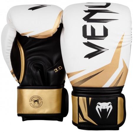 Venum Rękawice bokserskie Challenger 3.0 Białe/ Złote 2