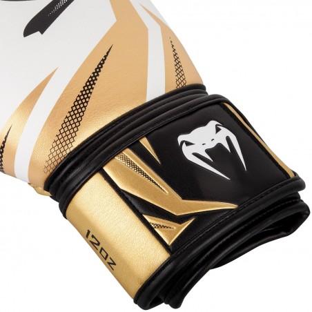 Venum Rękawice bokserskie Challenger 3.0 Białe/ Złote 3