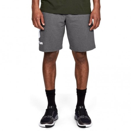 Under Armour Spodenki Sportstyle Cotton Graphic Szare 2