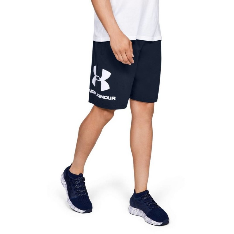 Under Armour Spodenki Sportstyle Cotton Graphic Granatowe