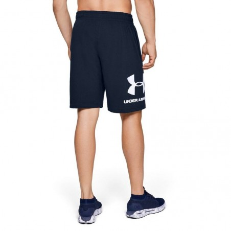 Under Armour Spodenki Sportstyle Cotton Graphic Granatowe 2