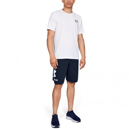 Under Armour Spodenki Sportstyle Cotton Graphic Granatowe 3