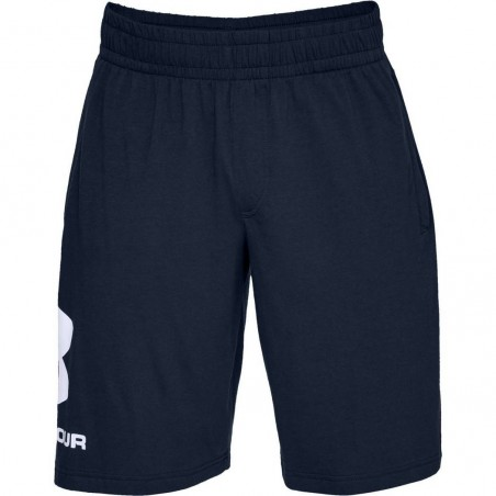 Under Armour Spodenki Sportstyle Cotton Graphic Granatowe 4