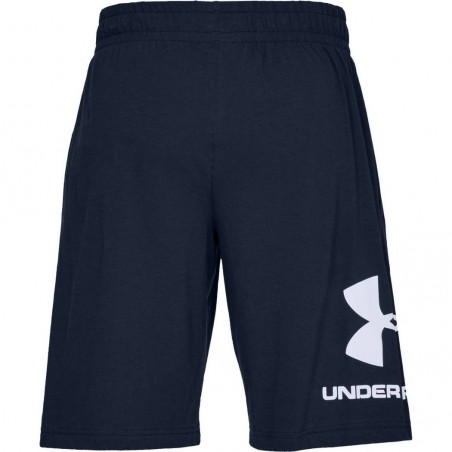 Under Armour Spodenki Sportstyle Cotton Graphic Granatowe 5