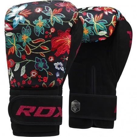 RDX Rękawice bokserskie FL3 Floral Czarne 1