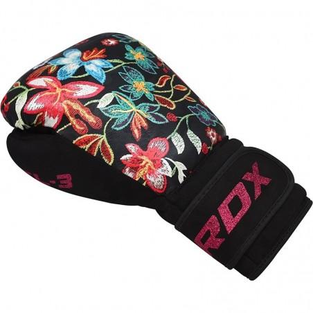 RDX Rękawice bokserskie FL3 Floral Czarne 2
