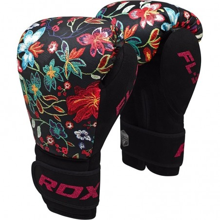 RDX Rękawice bokserskie FL3 Floral Czarne 6