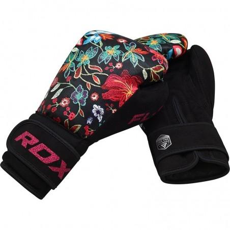 RDX Rękawice bokserskie FL3 Floral Czarne 7