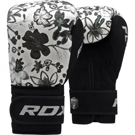 RDX Rękawice bokserskie FL4 Floral Białe 1