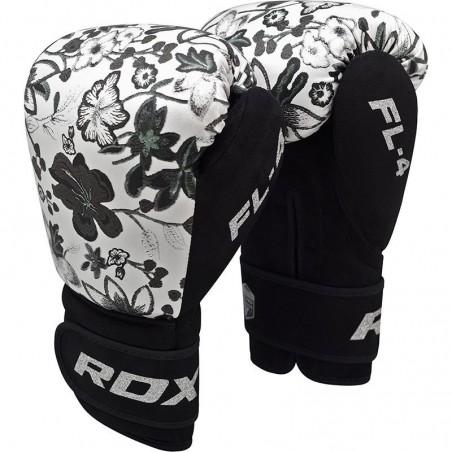 RDX Rękawice bokserskie FL4 Floral Białe 6