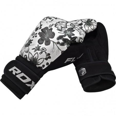 RDX Rękawice bokserskie FL4 Floral Białe 7