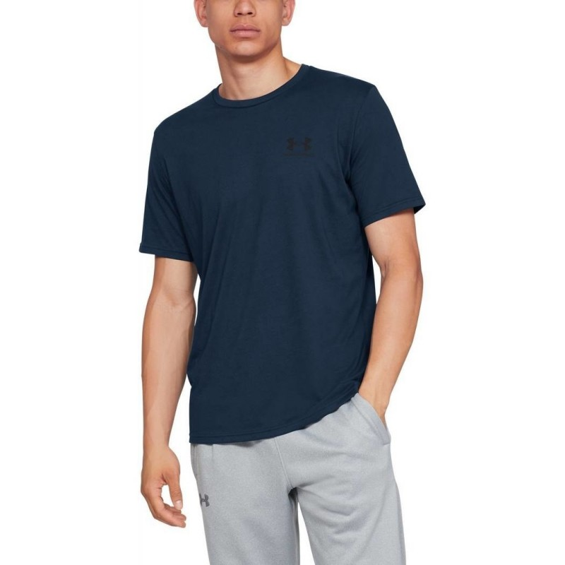 Under Armour Sportstyle Left Chest SS Granatowy
