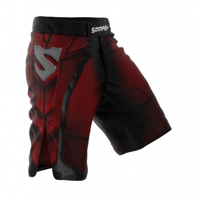 Smmash Spodenki MMA Red Armour