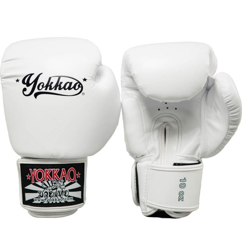 Yokkao Rękawice bokserskie Vertigo Białe