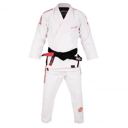 Tatami Kimono/Gi Estilo 6.0 Białe/Pomarańczowe 4