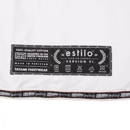 Tatami Kimono/Gi Estilo 6.0 Białe/Pomarańczowe 12