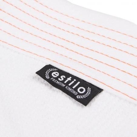 Tatami Kimono/Gi Estilo 6.0 Białe/Pomarańczowe 13