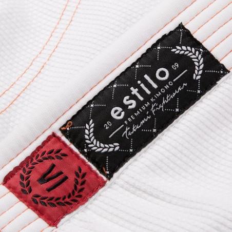 Tatami Kimono/Gi Estilo 6.0 Białe/Pomarańczowe 14