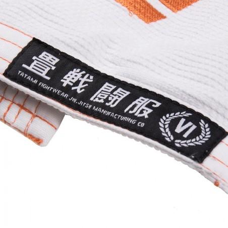 Tatami Kimono/Gi Estilo 6.0 Białe/Pomarańczowe 15