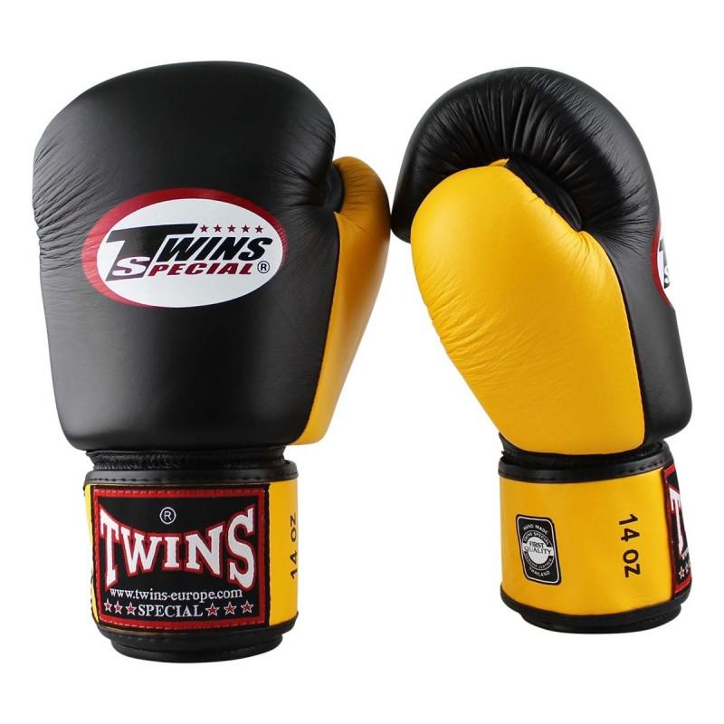 Twins Rękawice bokserskie BGVL-3 Czarne/Żółte