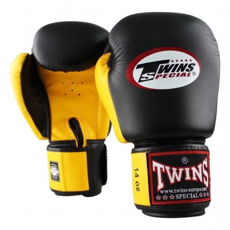 Twins Rękawice bokserskie BGVL-3 Czarne/Żółte 2