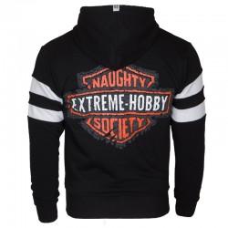 Extreme Hobby Bluza z kapturem rozpinana Naughty Society Czarna 1
