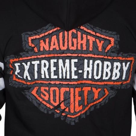 Extreme Hobby Bluza z kapturem rozpinana Naughty Society Czarna 4