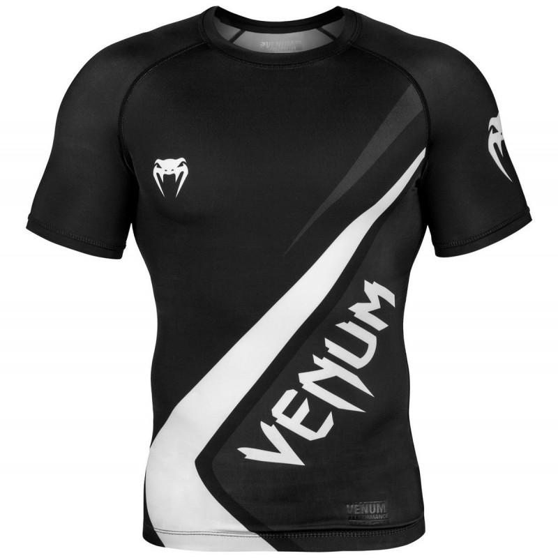 Venum Rashguard Contender 4.0 Krótki Rękaw Czarny