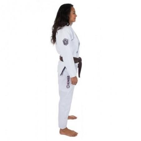 KiNGZ Kimono/Gi Damskie Balistico 2.0 Białe 5