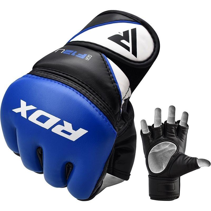 RDX Rękawice do MMA GGRF-12 Niebieskie