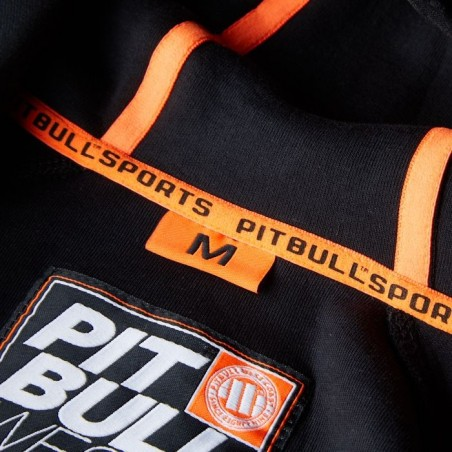 Pit Bull Bluza z kapturem rozpinana Logan Czarna 5
