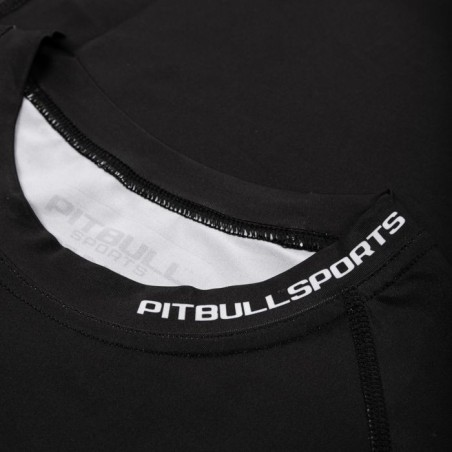 Pit Bull Rashguard Origin Krótki Rękaw Czarny 4