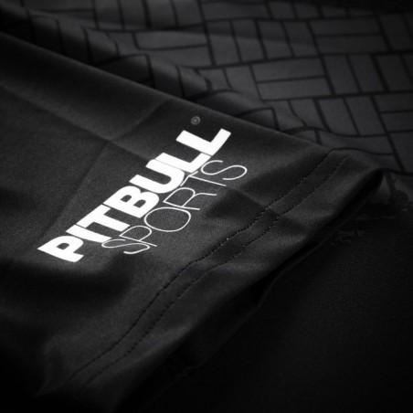Pit Bull Rashguard Bricks Krótki Rękaw Czarny 4
