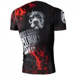 Pit Bull Rashguard Blood Dog Krótki Rękaw Czarny 1