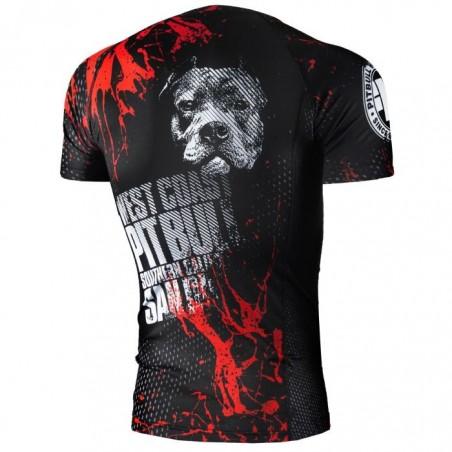 Pit Bull Rashguard Blood Dog Krótki Rękaw Czarny 2