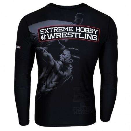 Extreme Hobby Rashguard Wrestling Długi Rękaw Czarny 2