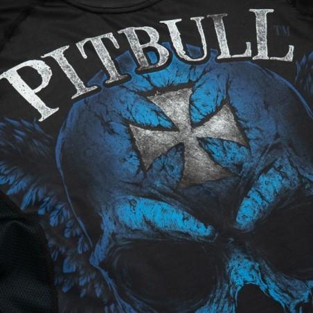 Pitbull Rashguard Mesh Performance Pro Plus Blue Skull Długi Rękaw 5