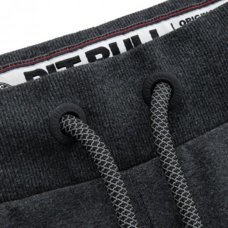 Pit Bull Spodnie Dresowe French Terry Samll Logo Grafitowe 3
