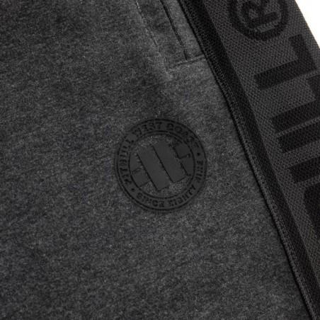 Pit Bull Spodnie Dresowe French Terry Samll Logo Grafitowe 5