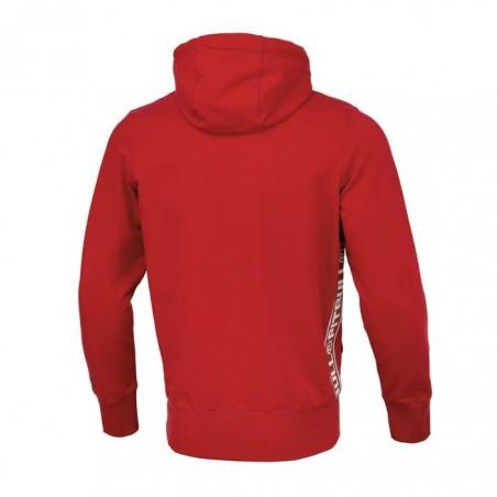 Pit Bull Bluza z kapturem rozpinana French Terry Small Logo Czerwona 2